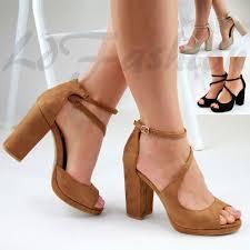 block heel platform ebay