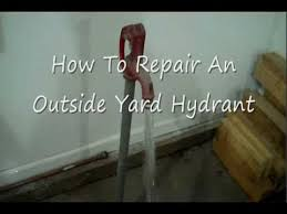 Fixing Outdoor Faucet Handle by How To Repair An Outside Yard Hydrant Youtube