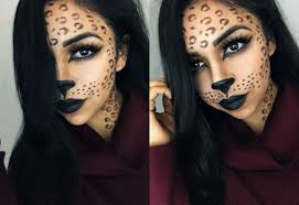 Carli Bybel Halloween by Rawwwr N E W Leopard Halloween Makeup Tutorial Is Now