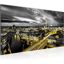 wandbilder berlin skyline modern vlies leinwand wohnzimmer