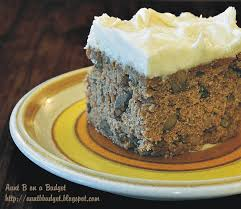 Aunt B on a Bud Applesauce Spice Cake With Cream Cheese Frosting