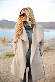obsessed with this beautiful colored winter coat glamorous