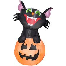 Inflatable Halloween Cat Archway by Halloween