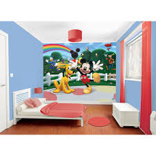 Mickey Mouse Clubhouse Toddler Bed by Walltastic Disney Mickey Mouse Clubhouse Mural 8ft X 10ft