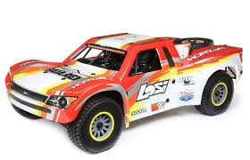 Losi 1/6 Super Baja Rey 4WD Desert Truck Brushless RTR With AVC, Red