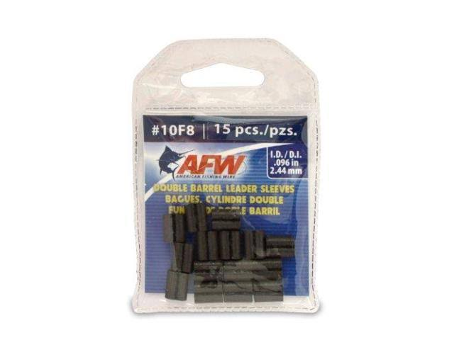 American Fishing Wire #14 Double Barrel Sleeve Black 10 Pieces