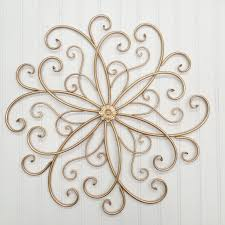 Gold Metal Wall Decor Scroll Theamphletts