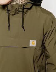 carhartt nimbus hooded pullover jacket in green for men lyst