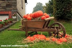 Outdoor Fall Thanksgiving Decorating with Pumpkins Dot Women