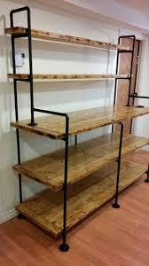 copper and torched wood bookshelf 4 steps with pictures