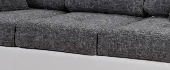 tissu canapé canapé design 3 places en tissu gris perrine canapé en tissu