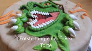 entstehung einer t rex dino torte cake tutorial