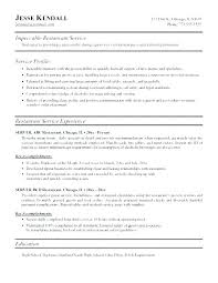 Resume Sample For Server Resumes Example
