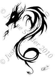 Tribal Dragon Design By ChalupaGurl13