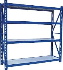 Heavy Duty Storage Racks Metal Shelving Home Depot Blue Color With Three Side