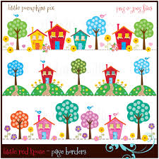 Cute House Clipart New Home Digital Scrapbook Page