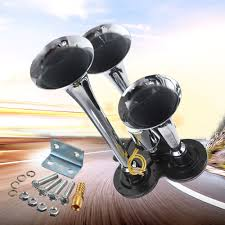 IZTOSS 12V 3.5'' 110-135db Super Loud Triple Trumpet Train Air ... Truck Horn 12 And 24 Volt 4 Trumpet Air Loudest Kleinn 159db Model Hk2 Dual Horn Kit Kleinn Air Horns Amazoncom 220 Train Black Automotive 411 Single Roof Mount Kits Houston Texas Wolo Giant Loud Chrome Universal 150db Trumpet Car Compressor With Peterbilt Semi Blowing Semitruckgallerycom Youtube Sirens For Trucks Northern Tool Equipment 1021 Twin Car 12v Set Amazoncouk Motorbike Heavy Duty Emergency Fire Commercial