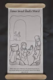 The Boy Jesus In Temple Scroll Coloring Page