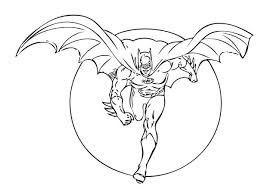 Batman With Wings Running Coloring Page