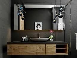 badezimmer industrial design pendelleuchten moderne badmöbel
