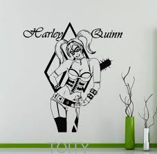 Superhero Comic Wall Decor by Harley Quinn Sticker Wall Decor Movie Poster Dc Marvel Comics