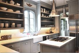 gray kitchen cabinets and homey kitchen with the use of