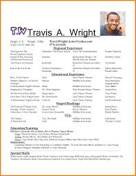 Actor Resume Template Teller Sample Free Acting Throughout