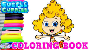 Bubble Guppies Coloring Book Nick Jr Show Deema Mermaid Surprise Egg And Toy Collector SETC