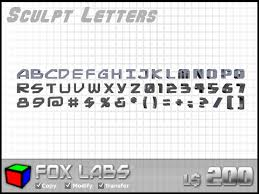 Second Life Marketplace 3D Letters Numbers & Symbols Full