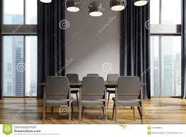 Download White Dining Room Black Curtains Stock Illustration