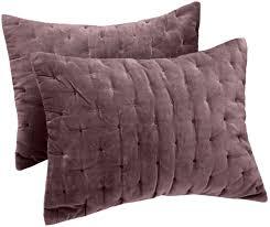 Purple Velvet King Headboard by Amazon Com Pinzon Signature Velvet Cotton King Sham Plum Gray