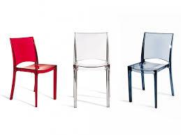 lot de 2 chaises empilables helly polycarbonate plein gris