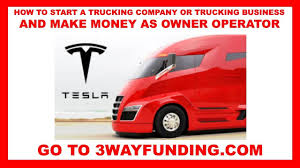 100 Start A Trucking Company HOW TO STRT TRUCKING COMPNY TRUCKING BUSINESS MKE MONEY S OWNER
