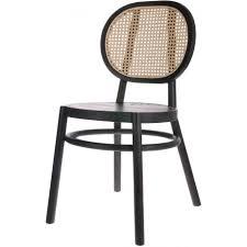 hk living stuhl im retro look aus holz und zuckerrohr schwarz natur