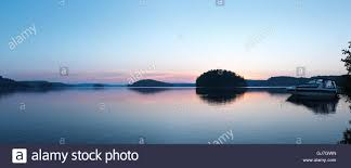 100 Mary Lake Ontario Peaceful Panoramic Sunrise Nature Scenery Of A Boat At