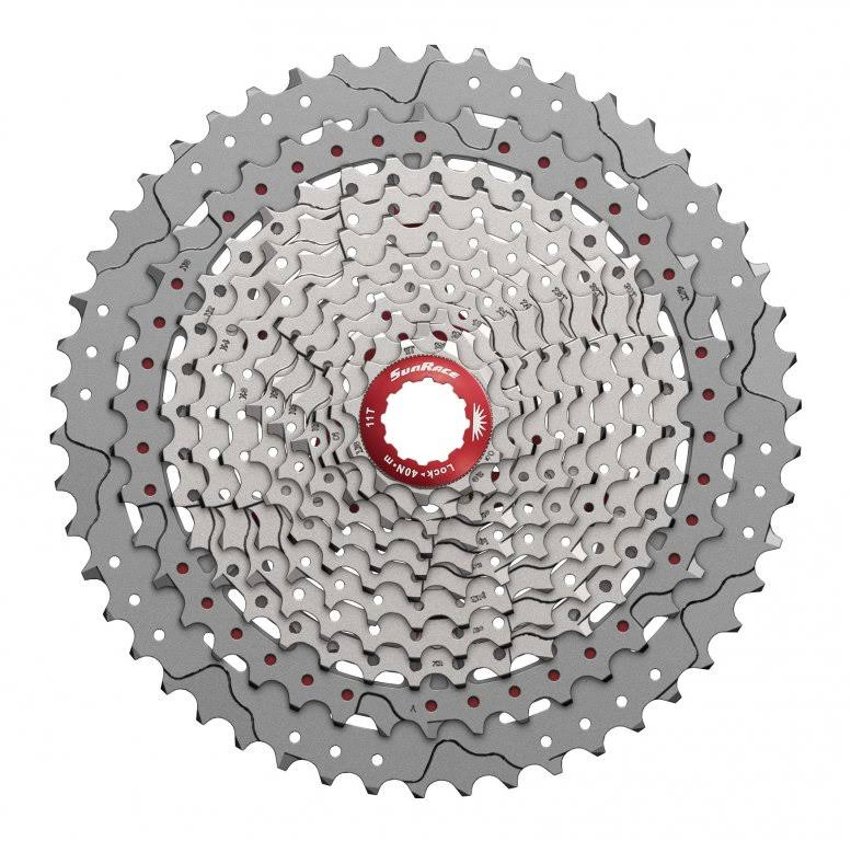 Sunrace CS-MX80 11-Speed Cassette - Silver, 11-50T