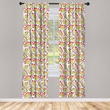 gardine fensterbehandlungen 2 panel set für wohnzimmer schlafzimmer dekor abakuhaus jugendstil vibrant japanisch kaufen otto