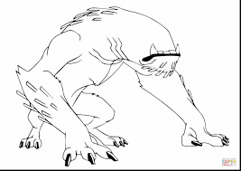 Beautiful Ben Wildmutt Coloring Pages With 10 And Alien
