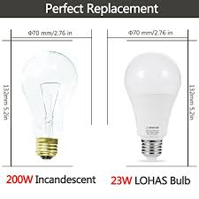 lohas led bulb 150w 200w light bulbs equivalent 23w a21 led