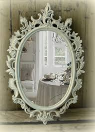 Shabby Chic White Bathroom Vanity by Digital Imagery Is Part Of How To Choose The Best Bathroom Mirrors