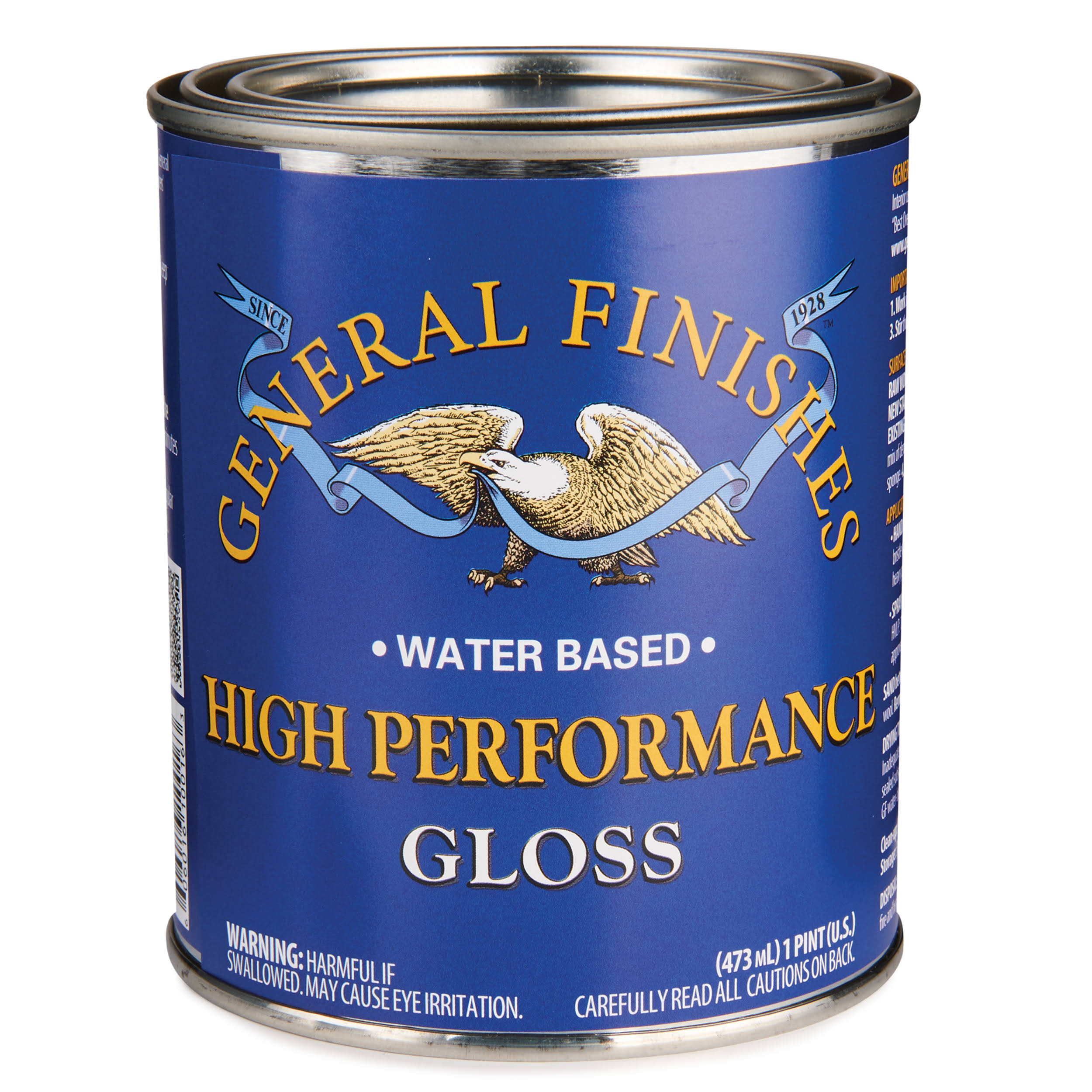 General Finishes High Performance Water Based Top Coat Gloss - 473ml