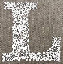 Papercutting Tempate Floral Letter Papercut Template PDF File DIY Cut Your Own
