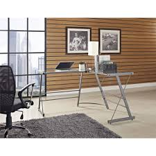 Ameriwood L Shaped Desk Assembly by Ameriwood Home The Works L Shaped Desk Cherry Gray Walmart Com
