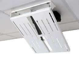 monlines mmotion flip elektrische tv deckenhalterung weiß