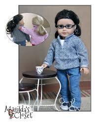 matilda u0027s closet half zip pullover doll clothes pattern 18 inch