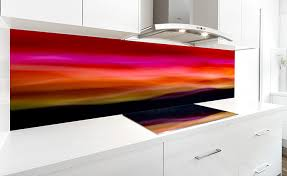 VRArtGlass Printed Glass Splashback Featuring Artwork PAINTED BY LIGHT 5 By Visual Resource