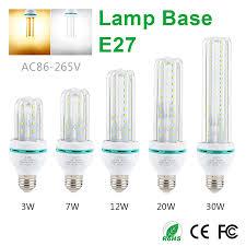 led l 2835 e27 corn bulb u shaped light top decoration sconce
