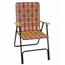guidesman deluxe folding web patio chair with wood arms at menards