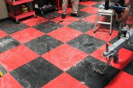 unique block tile garage flooring harley davidson garage flooring
