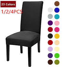 US $0.5 35% OFF 1/2/4PCS Solid Color Chair Cover Spandex Stretch Elastic  Slipcovers Chair Covers For Dining Room Kitchen Wedding Banquet Hotel-in ... Blancho Bedding 2 Piece Sets Of Elastic Chair Slipcovers Stretch Sofa Covers Cover Couch For 1 3 Seater Slipover Top Quality New Winter 1234 Thickened Sofa Cover Case Living Room Details About Easy Fit Lounge Protector 124x High Back Ding Knit Compare Idyllic Plant Print 4 Rowe Easton Casual And A Half With Slipcover Belfort Parson Life Is Party Best Sale 6847 1246pcs White Loviver 124pcs Removable 1246pcs Spandex Chairs Detachable Solid Color For Banquet Hotel Kitchen Wedding